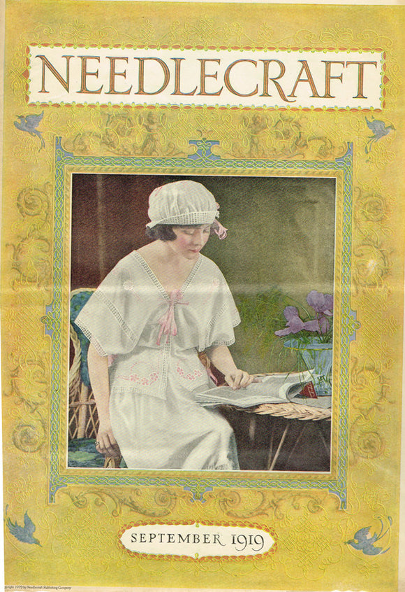 1910s Vintage Needlecraft Magazine Sept 1919 26 Pages Antique Craft Projects - Vintage4me2