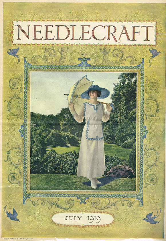 1910s Vintage Needlecraft Magazine July 1919 26 Pages Antique Craft Projects - Vintage4me2