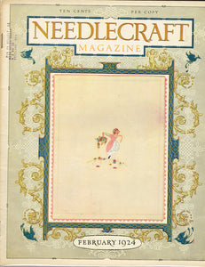 1920s Vintage Needlecraft Magazine February 1924 42 Pages Antique Craft Projects - Vintage4me2