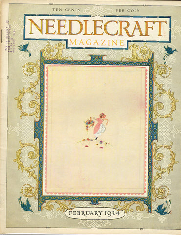 1920s Vintage Needlecraft Magazine February 1924 42 Pages Antique Craft Projects