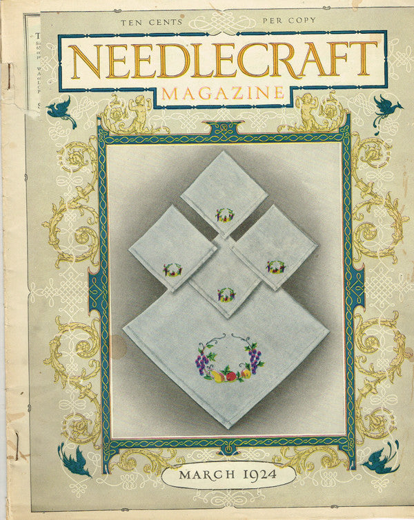 1920s Vintage Needlecraft Magazine March 1924 42 Pages Antique Craft Projects - Vintage4me2