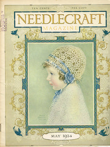 1920s Vintage Needlecraft Magazine May 1924 34 Pages Antique Craft Projects - Vintage4me2