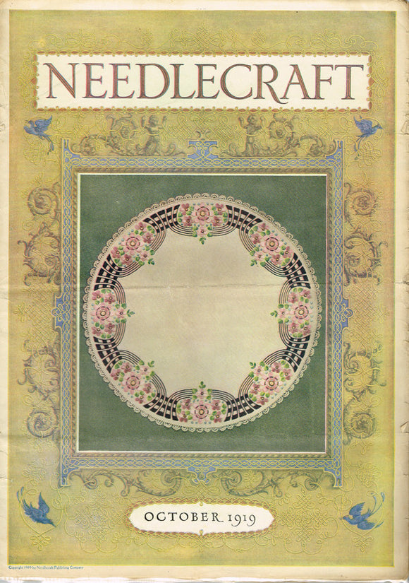 1910s Vintage Needlecraft Magazine October 1919 26 Pages Antique Craft Projects - Vintage4me2