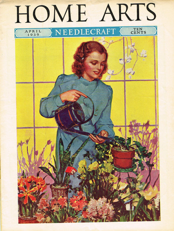 1930s Vintage Needlecraft Home Arts Magazine April 1939 22 Pages Craft Projects - Vintage4me2