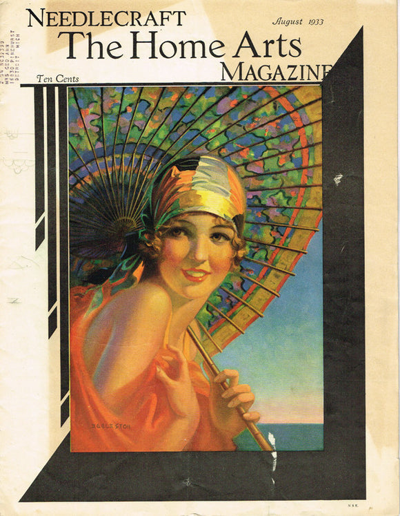 1930s Vintage Needlecraft Home Arts Magazine August 1933 22 Pgs Craft Projects - Vintage4me2