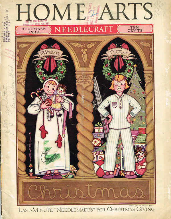 1930s Vintage Needlecraft Home Arts Magazine December 1938 26 Pgs Craft Projects - Vintage4me2