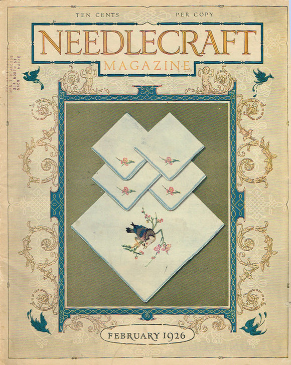 1920s Vintage Needlecraft Magazine February 1926 50 Pages Antique Craft Projects - Vintage4me2