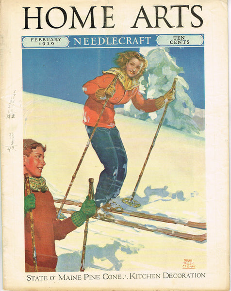 1930s Vintage Needlecraft Home Arts Magazine February 1939 26 Pages Craft Projects - Vintage4me2