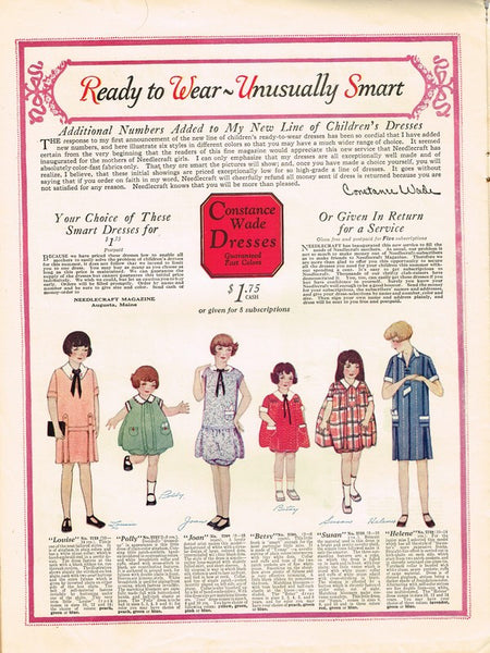1920s Needlecraft Magazine August 1926 Crochet Patterns Mail Order Pattern Ads - Vintage4me2
