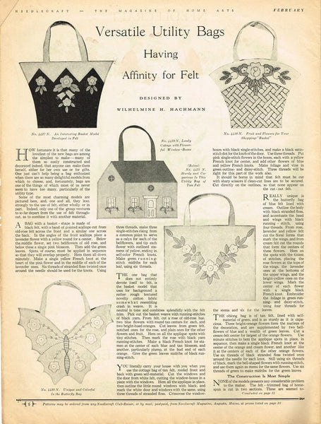 1930s Needlecraft Magazine February 1931 Crochet Patterns Mail Order Pattern Ads - Vintage4me2