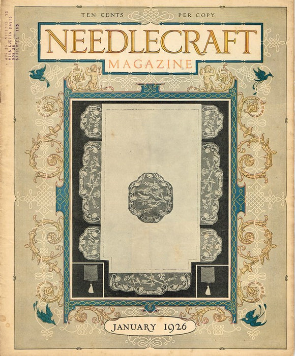 1920s Needlecraft Magazine January 1926 Crochet & Knit Pattern and More - Vintage4me2