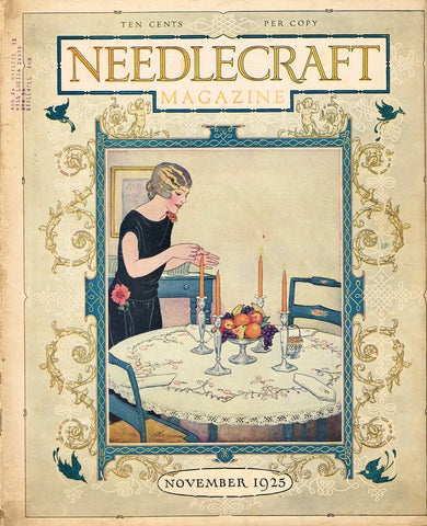 1920s Needlecraft Magazine November 1925 Crochet Patterns Mail Order Pattern Ads