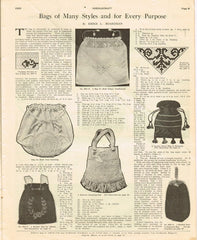 1920s Needlecraft Magazine November 1925 Crochet Patterns Mail Order Pattern Ads - Vintage4me2