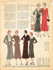 1930s Needlecraft Magazine October 1931 Crochet Patterns Mail Order Pattern Ads - Vintage4me2