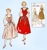 1940s Vintage New York Sewing Pattern 1085 Uncut Misses Sun Dress Size 35 Bust