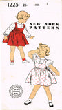 New York: 1950s Cute Toddler Girls Jumper Sz 3 Vintage Sewing Pattern - Vintage4me2