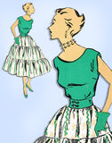 1940s Vintage New York Sewing Pattern 1294 Uncut Tiered Skirt & Blouse Size 30 B