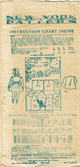 1940s Original Vintage New York Pattern 1379 Baby Girls Dress Coat Bonnet Size 1