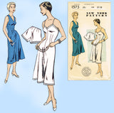New York 1573: 1940s Uncut Misses Slip & Panties Sz 38 B Vintage Sewing Pattern