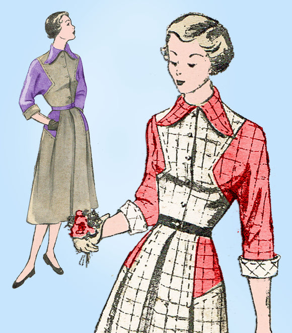 New York 788: 1940s Misses Louise Scott Dress Sz 31 Bust Vintage Sewing Pattern - Vintage4me2