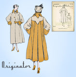 1950s Rare Vintage Originator Sewing Pattern 261 Uncut Plus Size Swing Coat 42B