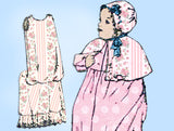 1910s Vintage Peerless Sewing Pattern 6632 Infants Layette w Christening Dress