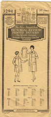1920s Vintage Pictorial Review Sewing Pattern 3294 Uncut Toddler Girls Smock Sz6