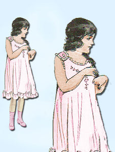 1920s Vintage Pictorial Review Sewing Pattern 5293 Baby Girls Easy Antique Slip - Vintage4me2