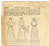 Pictorial Review 7590: 1930s Misses Graduation Gown Sz 32 B Vintage Sewing Pattern