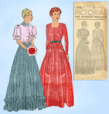 Pictorial Review 7590: 1930s Misses Graduation Gown Sz 32 B Vintage Sewing Pattern - Vintage4me2