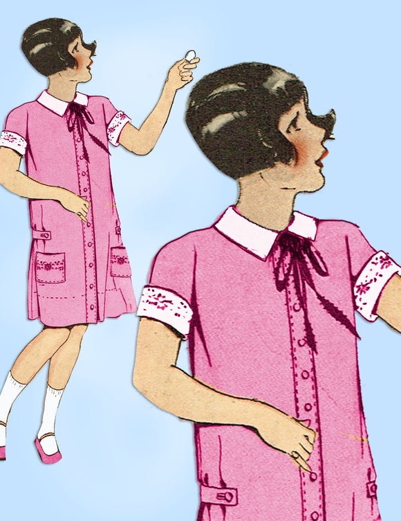 Pictorial Review 2689: Vintage Sewing Pattern Little Girls Flapper Dress Sz 8. Vintage4me2