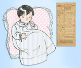 1920s Pictorial Review Sewing Pattern 4137 Infant Layette with Christening Dress - Vintage4me2