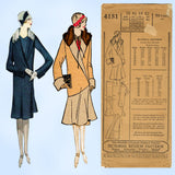 Pictorial Review 4151: 1920s Uncut Flapper Coat Sz 38 B Vintage Sewing Pattern - Vintage4me2