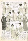 1910s VTG Pictorial Review Sewing Pattern 6371 Misses Edwardian Nightgown Sz 38B