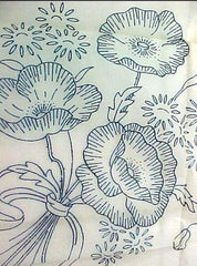 1930s Uncut Mail Order Embroidery Transfer RK 109 Beautiful Pansy Motifs