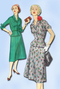 1950s Original Vintage Simplicity Sewing Pattern 1007 Uncut Misses Suit Sz 37 B