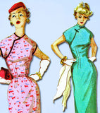 1950s Vintage Simplicity Sewing Pattern 1018 Misses Cheongsam Dress Sz 12 -Vintage4me2