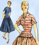 1950s Vintage Simplicity Sewing Pattern 1040 Misses' Dress Size 16 Uncut!