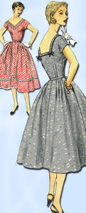 1950s Original Vintage Simplicity Pattern 1079 Sexy Misses Cocktail Dress 32B