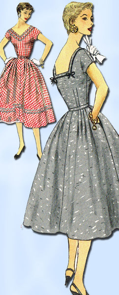 1950s Vintage Simplicity Pattern 1079 Misses Cocktail Dress 1079 Size 14 Uncut!