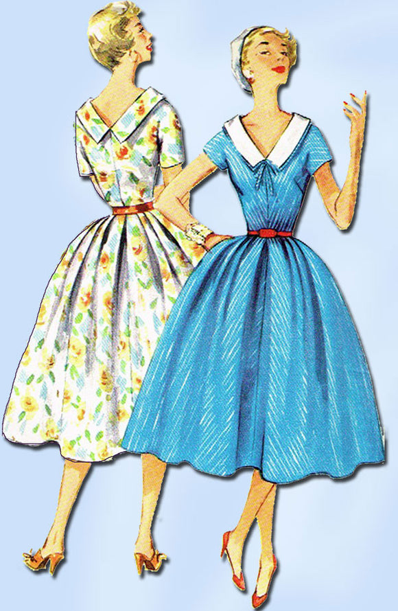 1950s Vintage Simplicity Sewing Pattern 1081 Uncut Misses Rockabilly Dress 32B