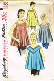 1950s Vintage Simplicity Sewing Pattern 1100 Uncut Misses Maternity Top Size 14