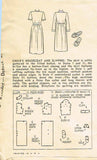 1940s Vintage Simplicity Sewing Pattern 1128 Uncut Girls Housecoat Slippers Sz 6