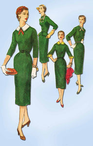 1950s Vintage Simplicity Sewing Pattern 1264 Misses Accessory Dress Size 14 32B