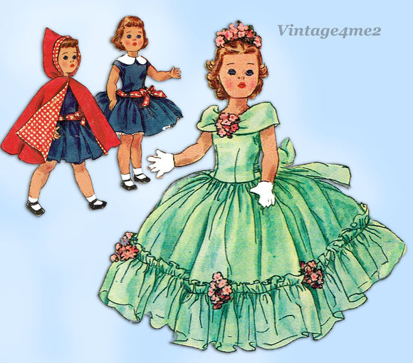 1950s Vintage Simplicity Sewing Pattern 1405 19 1/2 Inch Toni Walker Doll Clothes