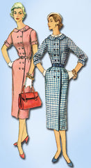 1950s Vintage Misses Coat Dress Uncut 1955 Simplicity Sewing Pattern Size 14