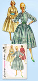 1950s Vintage Simplicity Sewing Pattern 1794 FF Misses Rockabilly Dress Size 34B