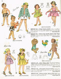 1940s Vintage Simplicity Sewing Pattern 2029 Easy Little Girls Sun Dress Size 8 - Vintage4me2