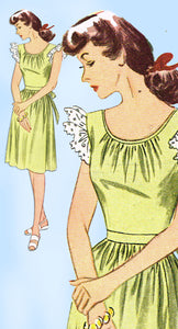 1940s Vintage Simplicity Sewing Pattern 2042 Charming Misses WWII Dress Sz 32 B - Vintage4me2