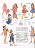 1940s Vintage Simplicity Sewing Pattern 2043 Toddler Girls Overalls & Jacket Sz6 - Vintage4me2